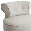 Millani Scroll Back Chair - Black Legs, Beige Linen Fabric - WI-BH-63110