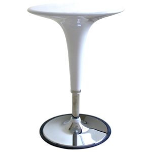 Nu Adjustable Height Bar Table - White