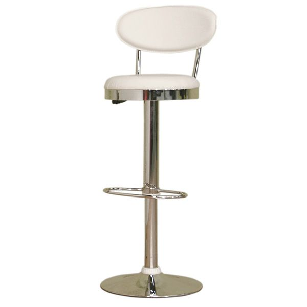 Stile Adjustable Swivel Bar Stool - White