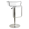 Mezzi Adjustable Swivel Bar Stool - Chrome Armrests - WI-BS-078-CLEAR