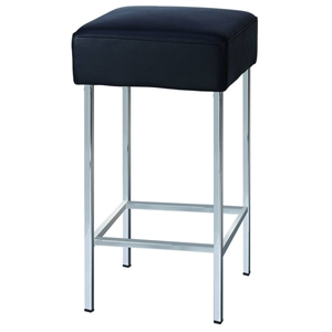 Everett Square Counter Stool in Black
