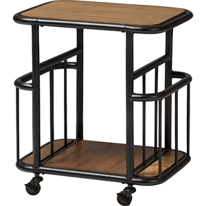 Cynthia Mobile Serving Cart - Brown, Black