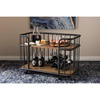 Porter Mobile Serving Bar Cart - Antique Black, Brown - WI-CA-1122