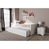 Risom Faux Leather Twin Daybed - Trundle Bed, White - WI-CF-8519-WHITE-DAY-BED