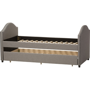 Alessia Upholstered Daybed - Guest Trundle Bed, Gray