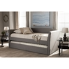 Camino Fabric Upholstered Daybed - Guest Trundle Bed, Gray - WI-CF8756-GRAY-DAY-BED