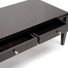 Haley Wood Coffee Table - Dark Brown Finish, 2 Drawers - WI-CHW35900-30