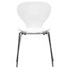 Boujan White Plastic Modern Dining Chair Wi Dc 2