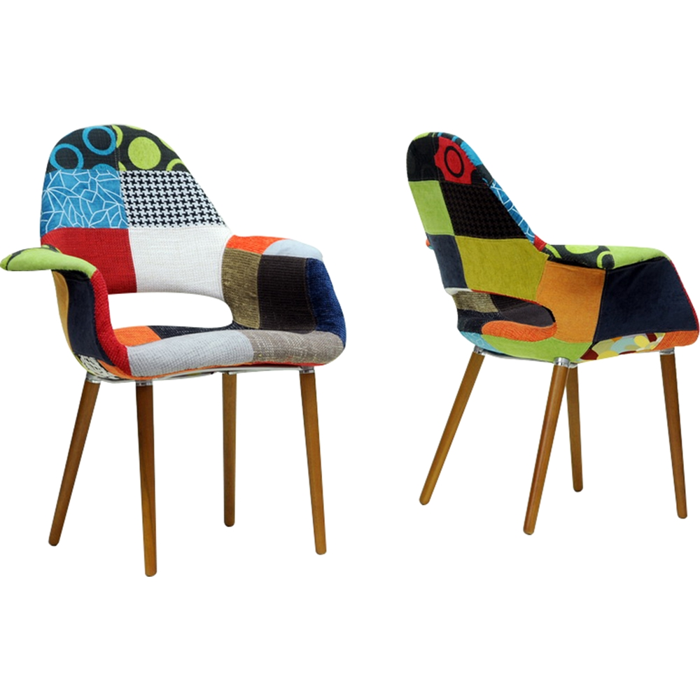 Forza Patchwork Accent Chair Multicolor Set Dcg