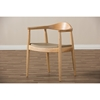 Dalton Wood Accent Chair - Natural - WI-DC-604-NATURAL-BEIGE