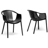 Grafton Molded Plastic Dining Chair Stackable Black Wi Dc 751