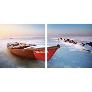 Seasonal Seashore Mounted Photography Print Diptych - Multicolor