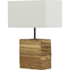 Satori Table Lamp - White, Light Brown - WI-DEK41J-TW