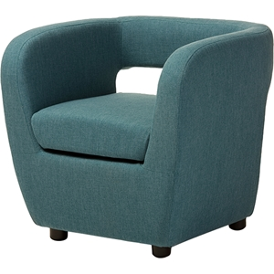 Ramon Upholstered Lounge Accent Chair - Blue
