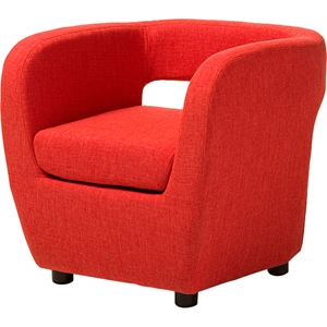 Ramon Upholstered Lounge Accent Chair - Orange