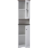 Lauren Buffet and Hutch Kitchen Cabinet - White, Wenge - WI-DR-883300-WHITE-WENGE
