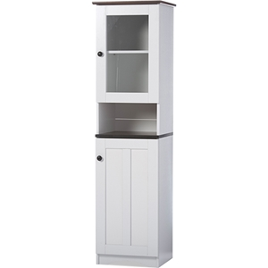 Lauren Buffet and Hutch Kitchen Cabinet - White, Wenge