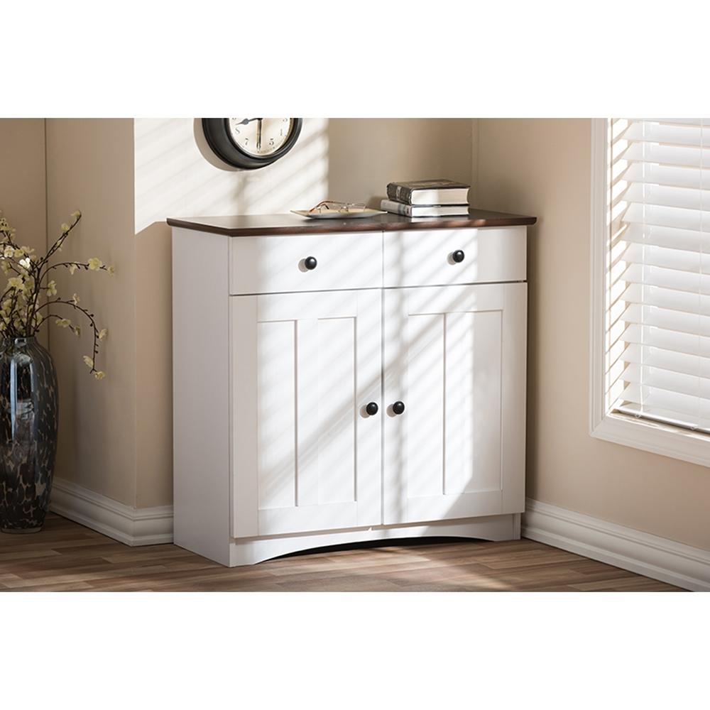 Lauren 2 Doors Buffet Kitchen Cabinet - White, Wenge   DCG ...