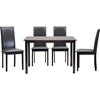Fallabella 5 Piece Dining Set - Dark Brown - WI-FALLABELLA-5PC-DINING-SET