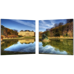 French Chateaux Mounted Photography Print Diptych - Multicolor