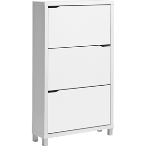 Simms 3 Tiers Shoe Cabinet - White