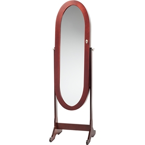 Apache Free Standing Cheval Mirror Jewelry Armoire - Brown