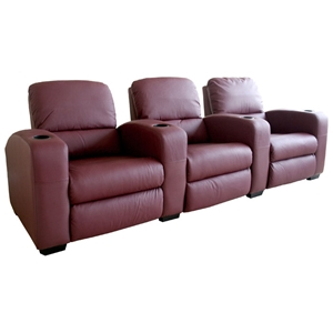 Showtime 3-Seat Leather Theater Sectional