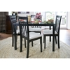 Jet Warm 5-Piece Dining Set - Dark Brown - WI-JET-WARM-5PC-DINING-SET