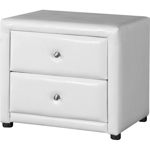 Winston 2 Drawers Nightstand - White | DCG Stores