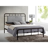 Nashville Metal Bed - Black Sea Gold - WI-LEN3116-BLACK-SEA-GOLD-BED