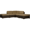 Owen Outdoor Sectional Sofa - Tan, Brown - WI-PAS-1206