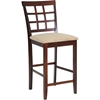 Katelyn Counter Stool - Cappuccino, Brown (Set of 2) - WI-PCH-6844-S3-24