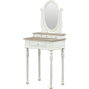 Anjou Accent Dressing Table - Mirror, White