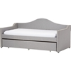 Prime Upholstered Daybed - Roll-Out Trundle Bed, Gray - WI-PRIME-GRAY-DAYBED