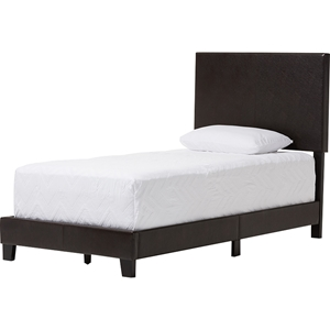 Ramon Faux Leather Twin Bed - Brown
