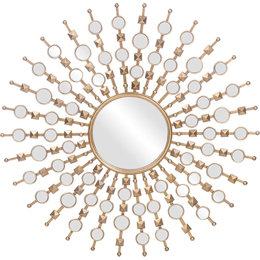 Clancy Round Accent Wall Mirror - Gold | DCG Stores