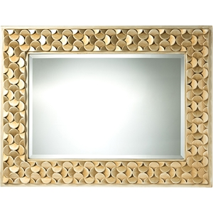 Benner Rectangle Accent Wall Mirror - Gold