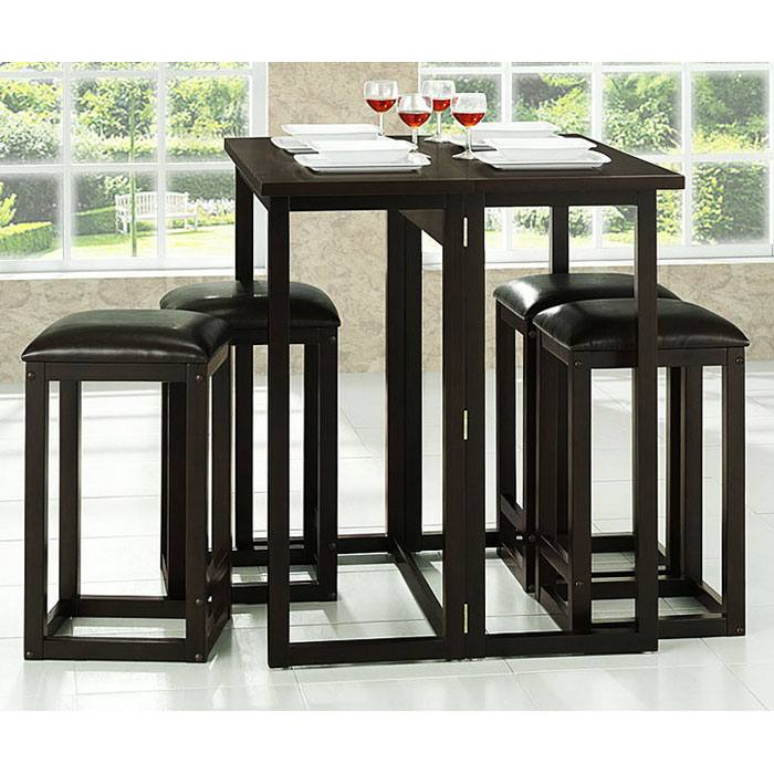 Leeds Folding Pub Table with Backless Stools