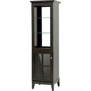 Nelson Storage Tower - 1 Door, Dark Brown