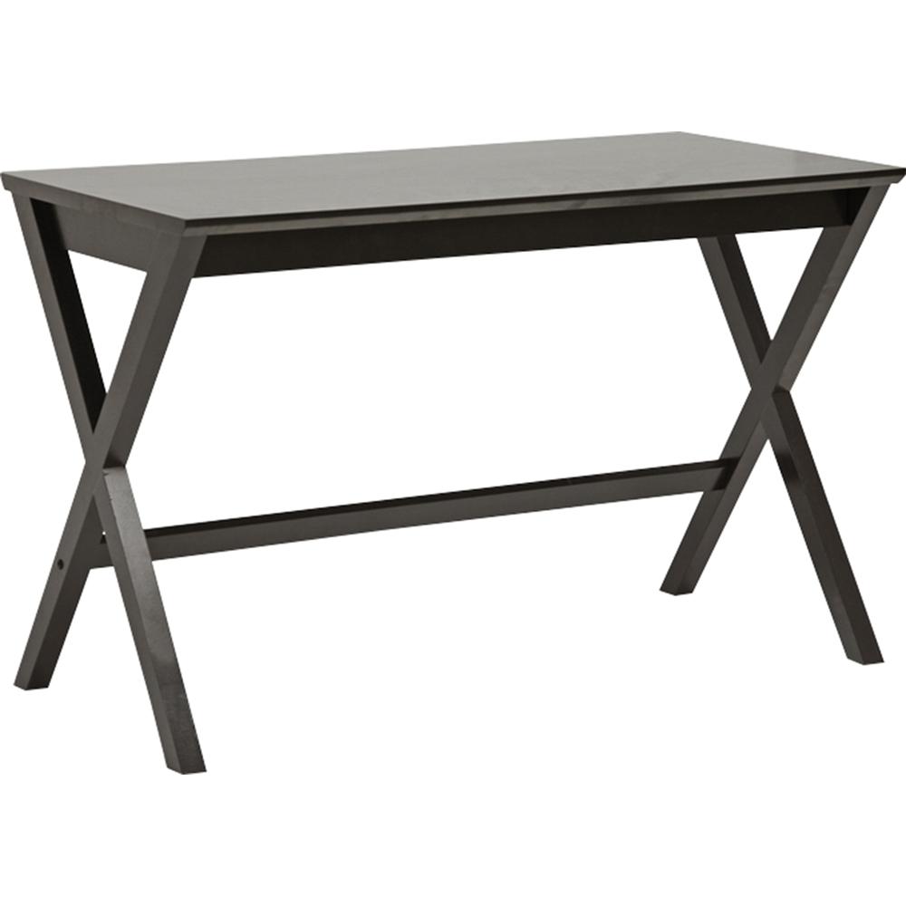 Tulsa Rectangular Desk - Dark Brown