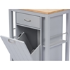 Yonkers 1 Drawer Kitchen Cart - Light Gray - WI-RT311-OCC