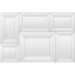 Geoffrey Rectangle Wall Sculpture - Silver