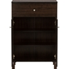 Felda 1 Drawer Shoes Cabinet - 2 Doors, Dark Brown - WI-SC864598-WENGE