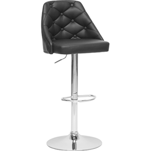 Salzburg Swivel Bar Stool - Black, Chrome
