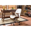 Rathburn Swivel Office Chair - White, Walnut Brown - WI-SD-2235-5-WALNUT-WHITE