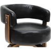 Fortson Faux Leather Accent Chair - Black - WI-SDL-2008-4-WALNUT-BLACK
