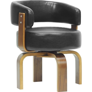 Fortson Faux Leather Accent Chair - Black