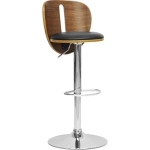 Athens Modern Bar Stool - Black