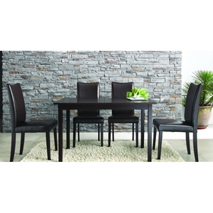 Berreman Dark Brown 5 Pieces Modern Dining Set