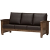 Charlotte Faux Leather Sofa - Walnut Brown, Dark Brown
